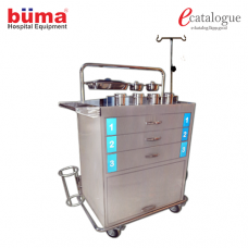 Emergency Trolley Luxurious Complete SS
